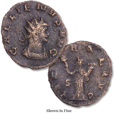Image for A.D. 253-268 Gallienus Bronze Antoninianus from Littleton Coin Company