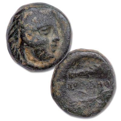 Image for 315-288 B.C. Thebes Bronze Coin from Littleton Coin Company
