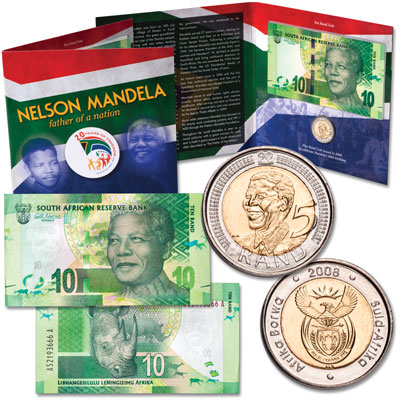 Image for Nelson Mandela Coin & Note Set from Littleton Coin Company