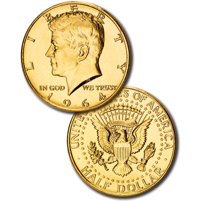 Image for 1964 Gold-Plated Kennedy Half Dollar from Littleton Coin Company