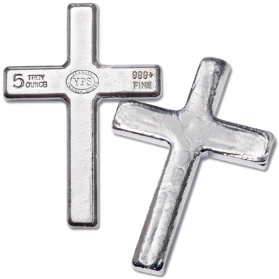 Image for 5 oz. Hand-Poured Silver Cross from Littleton Coin Company