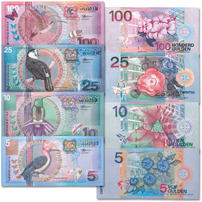 Image for 2000 Suriname Note Set from Littleton Coin Company