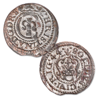 Image for 1634-1654 Swedish Occupation Livonia Silver Solidus of Queen Christina from Littleton Coin Company