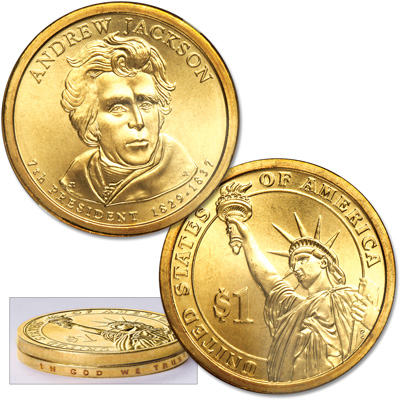 Image for 2008 Andrew Jackson Presidential Dollar Error from Littleton Coin Company