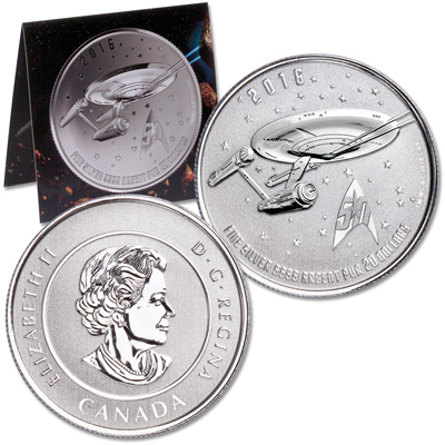 Image for 2016 Canada 1/4 oz. Silver $20 Star Trek Enterprise from Littleton Coin Company