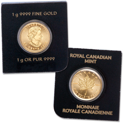 Image for 2016 Canada 1 gram Gold Maple Leaf from Littleton Coin Company