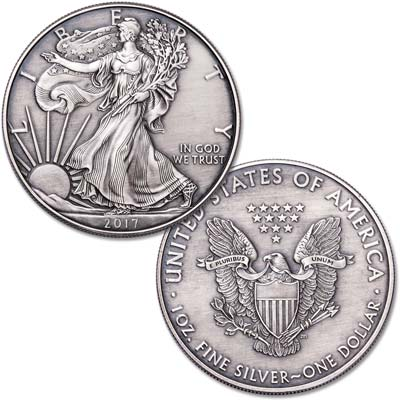 Image for 2017 Antique Finish $1 Silver American Eagle from Littleton Coin Company