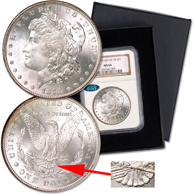 Image for 1878 7 Tail Feathers Morgan Dollar, 2nd Reverse from Littleton Coin Company