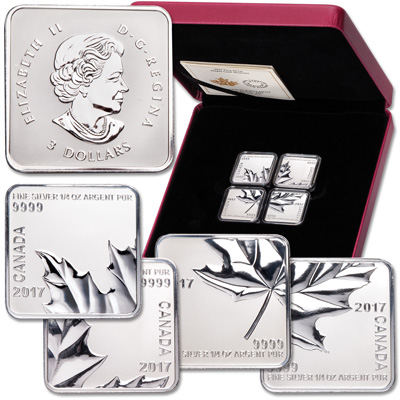 Image for 2017 Canada Silver Maple Leaf Quartet from Littleton Coin Company