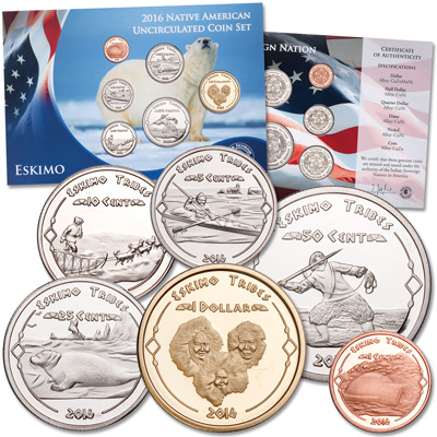 Image for 2016 Jamul Indian Coin Set - Eskimo Tribe from Littleton Coin Company