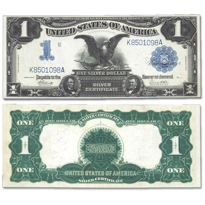 Image for 1899 Black Eagle $1 Silver Certificate from Littleton Coin Company