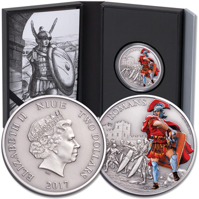 Image for 2017 Niue 1 oz. Silver $2 Romans from Littleton Coin Company