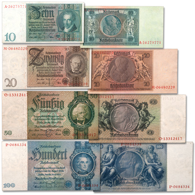 Image for 1929-1935 Germany Third Reich Note Set from Littleton Coin Company