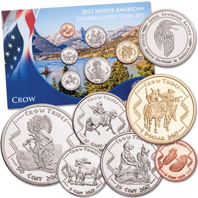 Image for 2017 Jamul Indian Coin Set - Crow Tribe from Littleton Coin Company