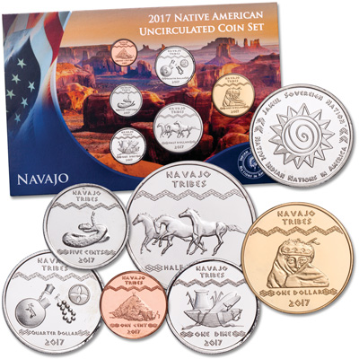 Image for 2017 Jamul Indian Coin Set - Navajo from Littleton Coin Company