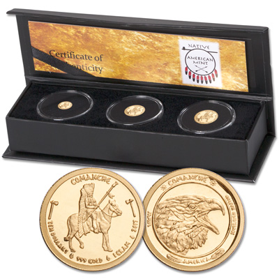 Image for 2017 Comanche Fractional Gold Set from Littleton Coin Company