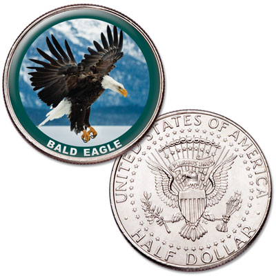 Image for Bald Eagle Colorized Half Dollar from Littleton Coin Company