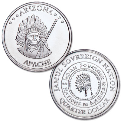 Image for 2018 Apache Native American Quarter from Littleton Coin Company