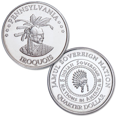 Image for 2018 Iroquois Native American Quarter from Littleton Coin Company