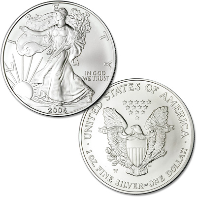 Image for 2006-W Burnished American Eagle Silver Dollar from Littleton Coin Company