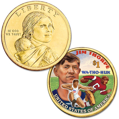 Image for 2018 Native American Dollar with Colorized Reverse from Littleton Coin Company