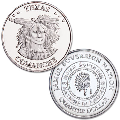 Image for 2018 Comanche Native American Quarter from Littleton Coin Company