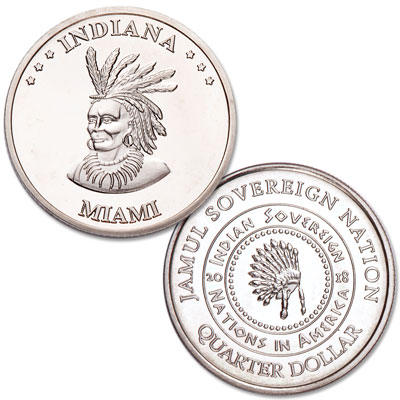 Image for 2018 Miami Native American Quarter from Littleton Coin Company