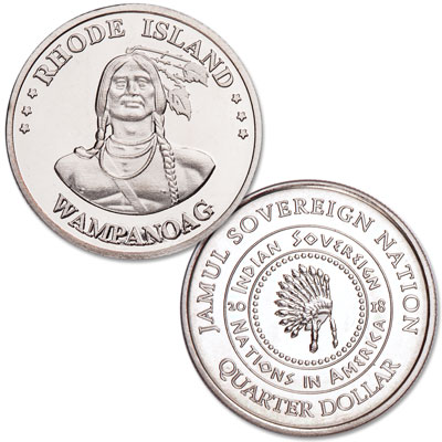 Image for 2018 Wampanoag Native American Quarter from Littleton Coin Company