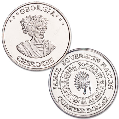 Image for 2019 Cherokee Native American Quarter from Littleton Coin Company