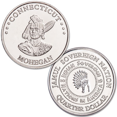 Image for 2019 Mohegan Native American Quarter from Littleton Coin Company