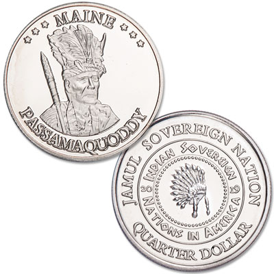 Image for 2019 Passamaquoddy Native American Quarter from Littleton Coin Company