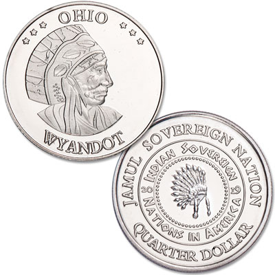Image for 2019 Wyandot Native American Quarter from Littleton Coin Company