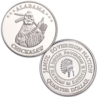 Image for 2019 Chickasaw Native American Quarter from Littleton Coin Company