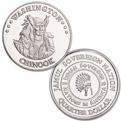 Image for 2019 Chinook Native American Quarter from Littleton Coin Company
