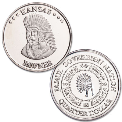 Image for 2019 Pawnee Native American Quarter from Littleton Coin Company