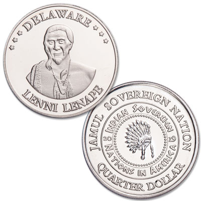 Image for 2019 Lenni Lenape Native American Quarter from Littleton Coin Company