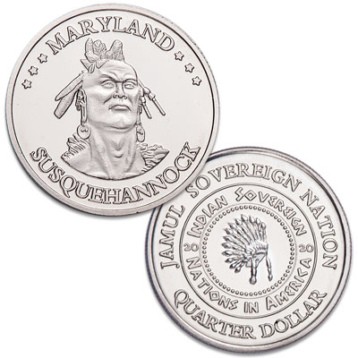Image for 2020 Susquehannock Native American Quarter from Littleton Coin Company