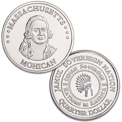 Image for 2020 Mohican Native American Quarter from Littleton Coin Company