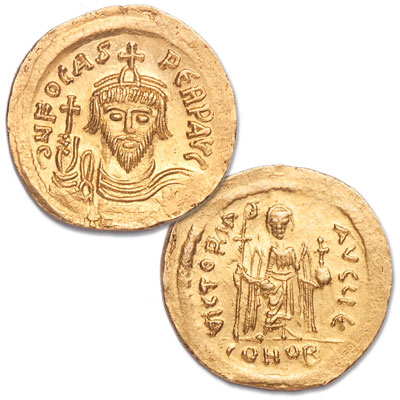 Image for A.D. 602-610 Phocas Byzantine Gold Solidus from Littleton Coin Company