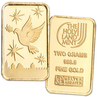 Image for 2 gram Gold Bar - Dove of Peace from Littleton Coin Company