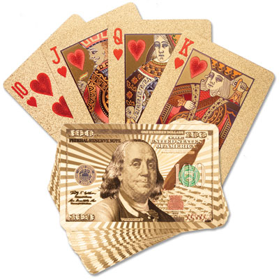 Image for 24k Gold Playing Cards from Littleton Coin Company