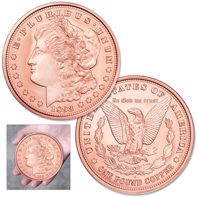 Image for 1893-S Morgan Dollar Replica Copper Round from Littleton Coin Company