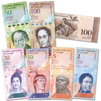 Image for 2007-2016 Obsolete Venezuela Note Set from Littleton Coin Company
