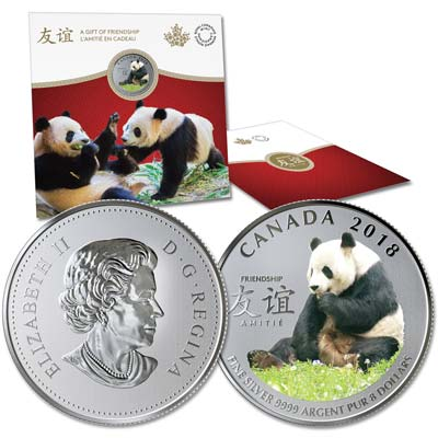 Image for 2018 Canada 1/4 oz. Silver $8 Panda from Littleton Coin Company