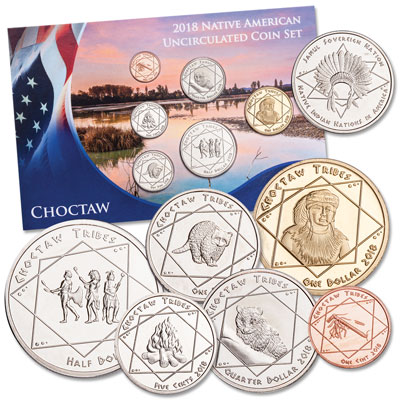 Image for 2018 Jamul Indian Coin Set - Choctaw from Littleton Coin Company
