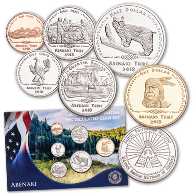 Image for 2018 Jamul Indian Coin Set - Abenaki Tribe from Littleton Coin Company