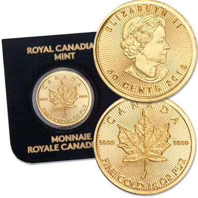 Image for 2018 Canada 1 Gram Gold Maple Leaf from Littleton Coin Company