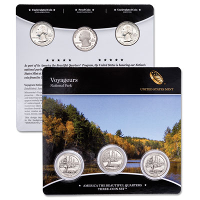 Image for 2018 Voyageurs National Park Quarter Set from Littleton Coin Company