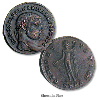 Image for A.D. 293-311 Galerius Bronze Follis from Littleton Coin Company
