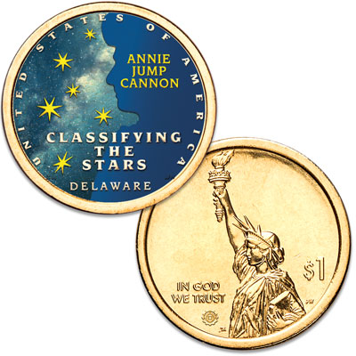 Image for 2019 Colorized Delaware U.S. Innovation Dollar from Littleton Coin Company
